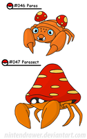 Pokedex 46-47 by Nintendrawer