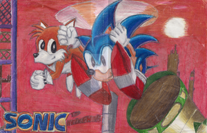 Sonic The Hedgehog Old Art 1992~ by Gneiss-chert