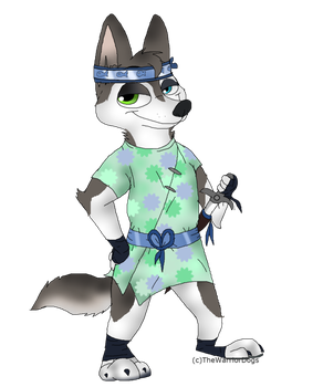 Oc Cimon Silver drawn By Thewarriordogs by vocaloidninja1999