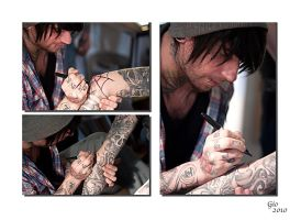 Tattoo Artist Martyn at work by canuflybobby