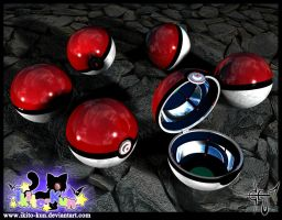 Pokeball 3d by Ikito-kun