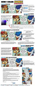 How I Color Sonic the Hedgehog by herms85