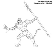 Sheng-Long with Halberd by MDTartist83