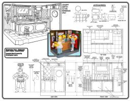 The Simpson: Moe's Tavern by toymaker-cl