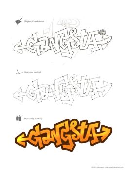 Gangsta - graffiti experiment by arpad