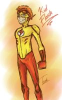 Kid Flash sketch by FoxyTeah