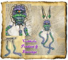 Cuthulu Monster Tentacle Necklace by grimdeva