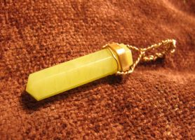 Lemon Quartz and Copper Wire-Wrapped Pendant 2a by Windthin