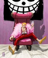 -- Pink Doflamingo -- by wyv1