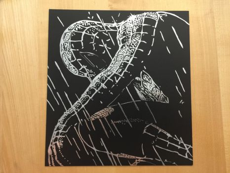 Spiderman Kratzbild/ Scratchboard by Ela0104