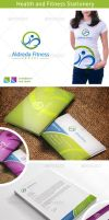 Healthy Fitness Logo and Stationery by nasirktk