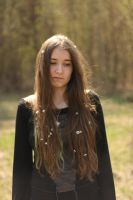 Girl with long hair by daydreamers-stock