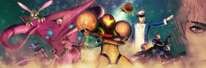Metroid and friends by Raiden-chino