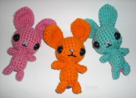 Big Headed Bunny Amigurumi's by 13anana