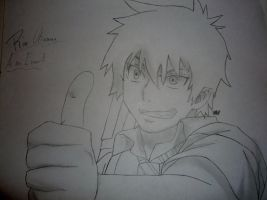 Thumbs Up- Rin Okumura by ShadowAvenger94
