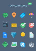 16 Free Flat Vector Icons by KL-Webmedia