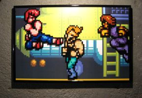 Perler Double Dragon 2 by Dlugo1975