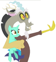 Discord and Pony Base by SelenaEde