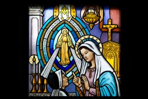 Miraculous Medal Window by TomFawls