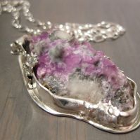 Purple Mountain - necklace by Jealousydesign