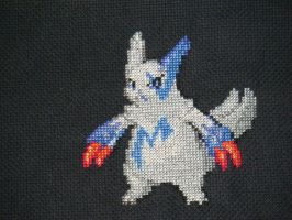 Shiny Zangoose Bag WIP by xXShadowKatXx