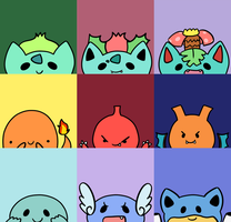 Pokemon Kanto Starters Avatars by Maareep