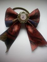 steampunk hair bow by ScorpionsKissx
