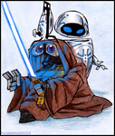 WALL.E and STAR WARS by PurpleRAGE9205