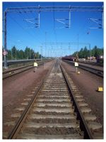 Train line Finland by scarlet1800