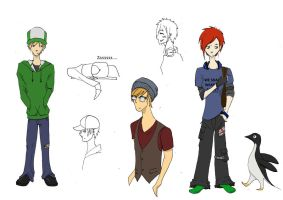 Preliminary webcomic characters by Cartoon-punk
