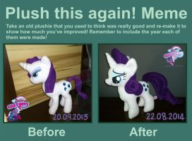Plush this again! Rarity by angel99percent