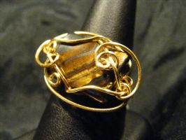 free form tiger iron and gold by BacktoEarthCreations
