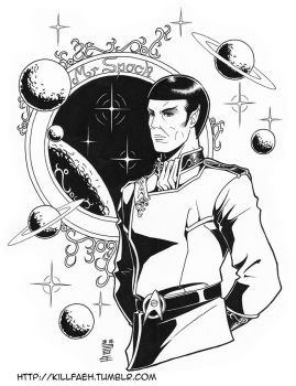 Customized Mister Spock - Lineart by Killfaeh