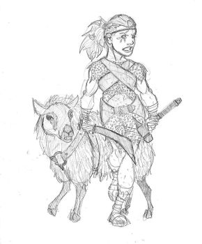 Winnifyr the Halfling Barbarian by SamwiseTheAwesome