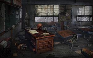 Spooky Classroom by MoreGrim