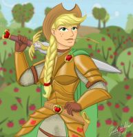MLP: Human Paladin Applejack by Saber-Scorpion