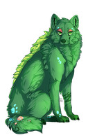 Green wolf by rasitus
