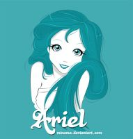 Ariel in Blue by ChabeEscalant