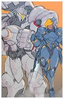 OVER armors WIP by crybringer