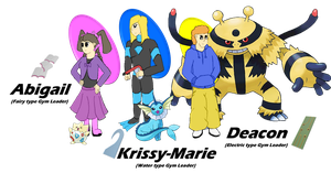 Three new Gym Leaders! by TheJakeshiEagle