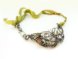 Hot summer wire copper necklace by UrsulaOT