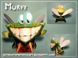 Rayman - Murfy Papercraft by squeezycheesecake