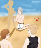 APH A Day at the Beach by naotoshirogane1