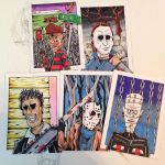 Horror Sketch cards by johnnyism