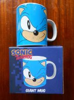 Classic Sonic Winking Face Giant Mug (Picture 1) by BoomSonic514