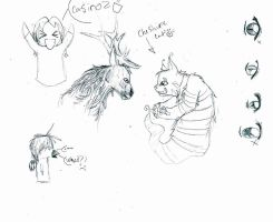 eyes then elk and cheschirecat by LoD90
