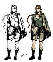 Lara Croft_quick sketch by oxydgenesis