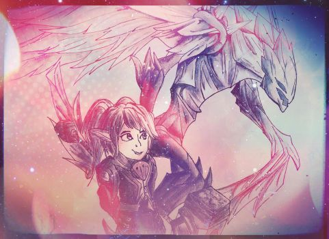 League Duo, Kha'zix and Poppy by BLUETHEGHOST