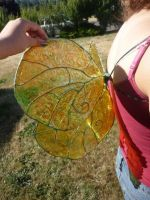 Yellow butterfly wings by Starleaf-Creations