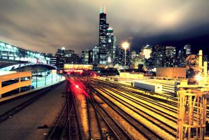 Chicago's train station. by ippiki-wolf